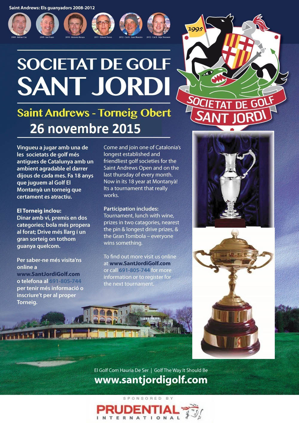 The saint Andrews Trophy 2013